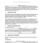 Indiana Last Will and Testament Form