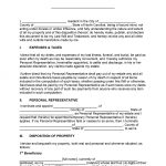 North Carolina Last Will and Testament Form