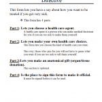 Alaska Advance Health Care Directive (Living Will) Form